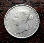 25 центов Канада 1872 серебро, фото №4