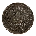 5 марок 1898 р, Саксонія, фото №3