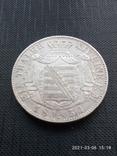 Таляр 1854 р. Саксонія, фото №5