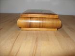 Шкатулка деревянная шпонированная СССР, фото №6