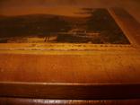 Шкатулка деревянная шпонированная СССР, фото №7