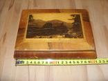 Шкатулка деревянная шпонированная СССР, фото №11