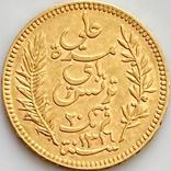 20 франков. 1898. Тунис (золото 900, вес 6,44 г), фото №7