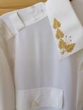 Генеральская шелковая рубашка с вышивкой, индпошив, с галстуком с вышивкой, фото №6