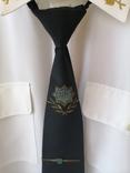 Генеральская шелковая рубашка с вышивкой, индпошив, с галстуком с вышивкой, фото №7