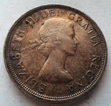 Канада 1 доллар 1953 / серебро, фото №3