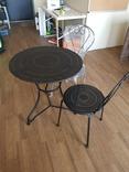 Стол и 2 стула из металла, фото №2