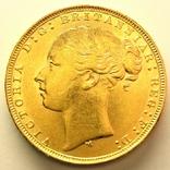 Австралия соверен 1880 г., фото №2