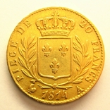 Франция 20 франков 1814 г., фото №3