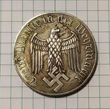 12 лет в Вермахте.копия в медном сплаве покрыта серебром., фото №2