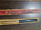 Китайская ручка с золотым ? пером 80 ые года, фото №3