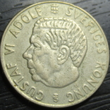 1 крона Швеція 1958 срібло нечаста, фото №3