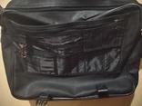 Сумка чёрная для ноутбука, кожзам, фото №12