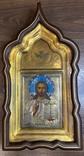 Икона Господь Вседержитель. В серебре и эмалях, фото №2