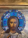 Икона Господь Вседержитель. В серебре и эмалях, фото №3