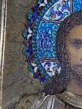 Икона Господь Вседержитель. В серебре и эмалях, фото №4