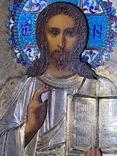 Икона Господь Вседержитель. В серебре и эмалях, фото №11