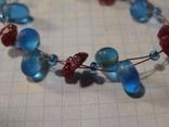 Браслет стеклянные бусины камни, фото №4