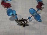 Браслет стеклянные бусины камни, фото №5