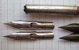 Ручка-держатель из иглы морского ежа + 2 пера №11 + 2 пера № 12 + 2 пера № 23, фото №3
