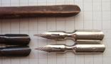 Ручка-держатель из иглы морского ежа + 2 пера №11 + 2 пера № 12 + 2 пера № 23, фото №5