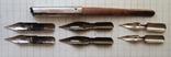 Ручка-держатель из иглы морского ежа + 2 пера №11 + 2 пера № 12 + 2 пера № 23, фото №6