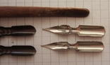 Ручка-держатель из иглы морского ежа + 2 пера №11 + 2 пера № 12 + 2 пера № 23, фото №9