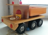 Деревянная грузовая машинка для детей, из СССР., фото №2