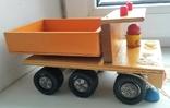 Деревянная грузовая машинка для детей, из СССР., фото №4