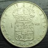 1 крона Швеція 1968 срібло, фото №2