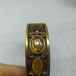 Разжимной браслет с оранжевыми камнями. Тяжеленький (3), фото №7