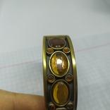 Разжимной браслет с оранжевыми камнями. Тяжеленький (3), фото №8