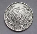 1/2 марки 1917 г. (J) Германия, серебро, фото №7