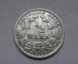 1/2 марки 1919 г. (F) Германия, серебро, фото №3