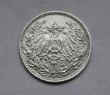 1/2 марки 1919 г. (F) Германия, серебро, фото №7