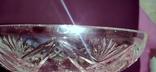 Ваза на ножке большая. Хрусталь/стекло., фото №6