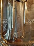 Икона Максим и Миланья, огненное золочение 36 х 31 см. 84 проба,, фото №4