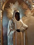 Икона Максим и Миланья, огненное золочение 36 х 31 см. 84 проба,, фото №6