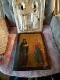 Икона Максим и Миланья, огненное золочение 36 х 31 см. 84 проба,, фото №9