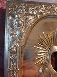 Икона Максим и Миланья, огненное золочение 36 х 31 см. 84 проба,, фото №13