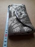 Клатч футляр для ювелирных украшений расшитый серебристым бисером, новый, фото №4