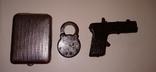 Портсигар замок пистолетик, фото №3