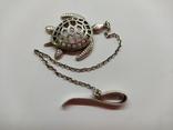 Кулон подвеска Черепаха серебро 925, фото №3
