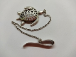 Кулон подвеска Черепаха серебро 925, фото №2