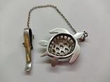 Кулон подвеска Черепаха серебро 925, фото №7