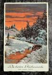 Старинная открытка. Новый Год. Германия., фото №2