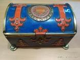 Коробка сундук из под конфет фабрики Красный Октябрь ,СССР, фото №3