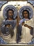 Иоан Креститель и Св. Муч. Нажежда. 84. Огненое золочение. 31 х 27 см. Ємали., фото №2