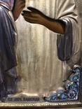 Иоан Креститель и Св. Муч. Нажежда. 84. Огненое золочение. 31 х 27 см. Ємали., фото №5