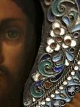 Иоан Креститель и Св. Муч. Нажежда. 84. Огненое золочение. 31 х 27 см. Ємали., фото №9